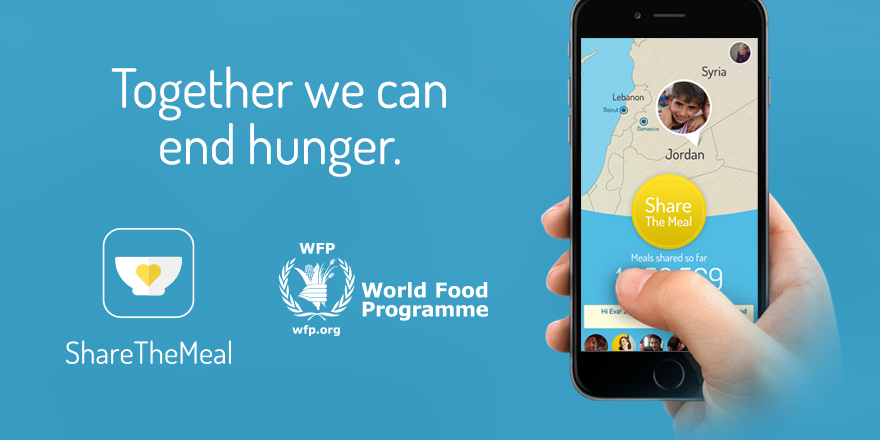 "ShareTheMeal is a smartphone app that enables users to ""share their meal"" with hungry children – with just a tap."