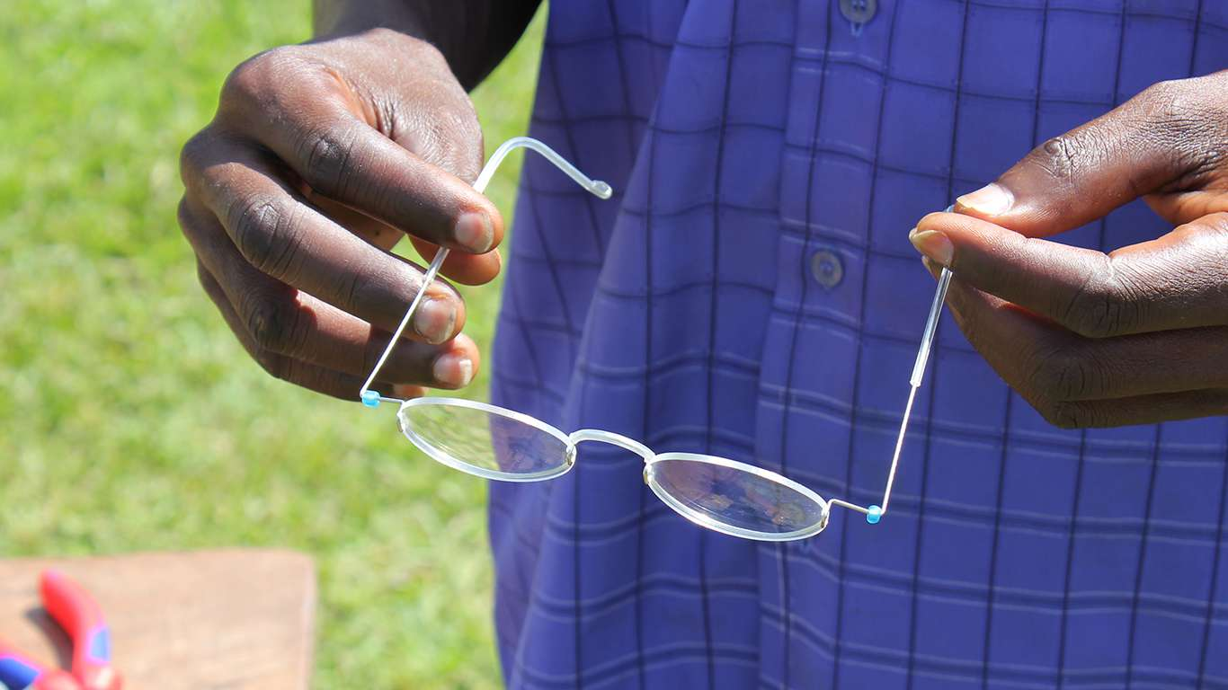 We recently started training women self-help groups in the villages to become opticians and and eyewear producers.