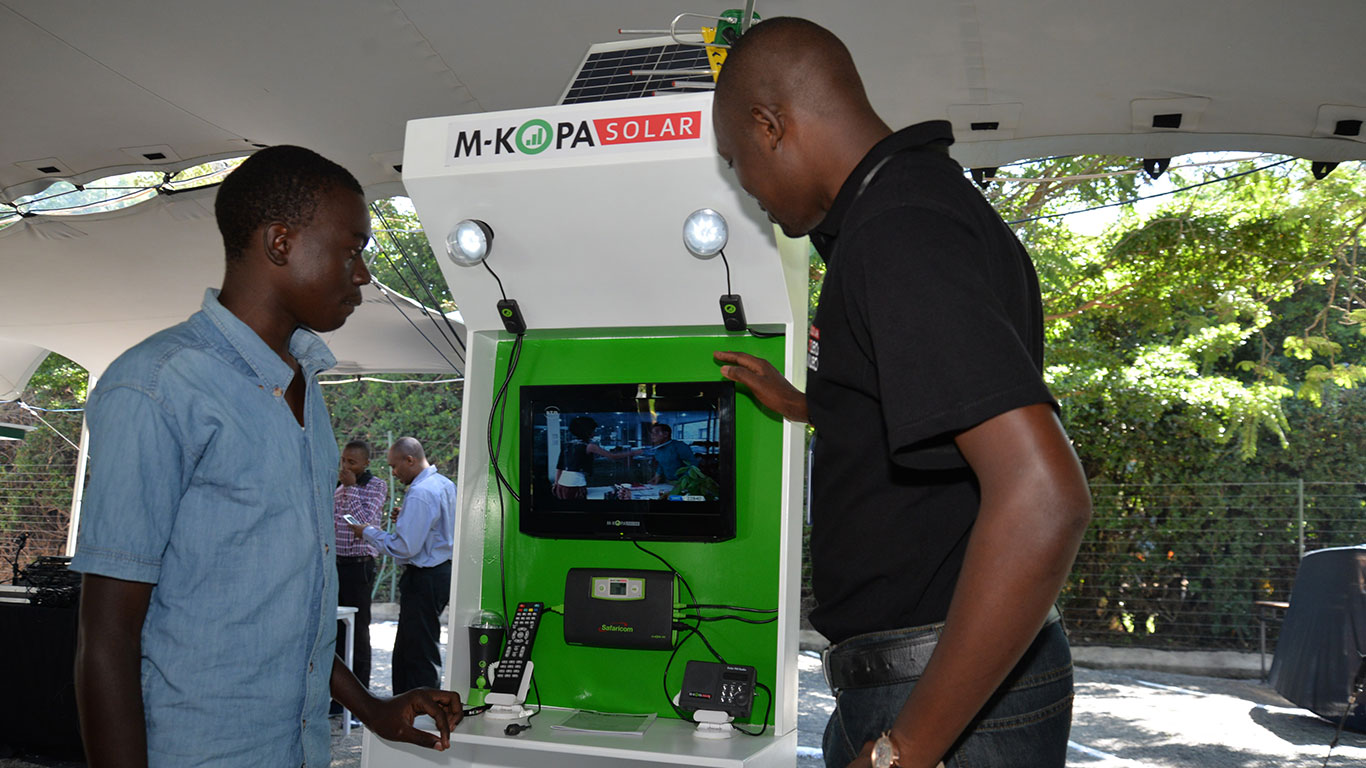 M-Kopa (M for mobile, kopa is Swahili for borrowed) is a Kenyan solar energy company that is headquartered in Nairobi. The company sells home solar systems in Kenya, Tanzania, and Uganda.